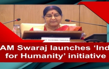 Launch of 'India for Humanity' by External Affairs Minister