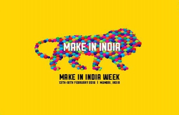 Make in India Week Ad on San Francisco Transit System