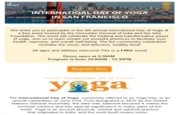 International Yoga Day in San Francisco on Sunday, June 16, 2019