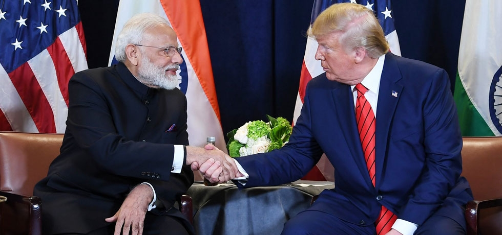 Prime Minister and President Trump met on the sidelines of UNGA at New York on 24 Sep 2019