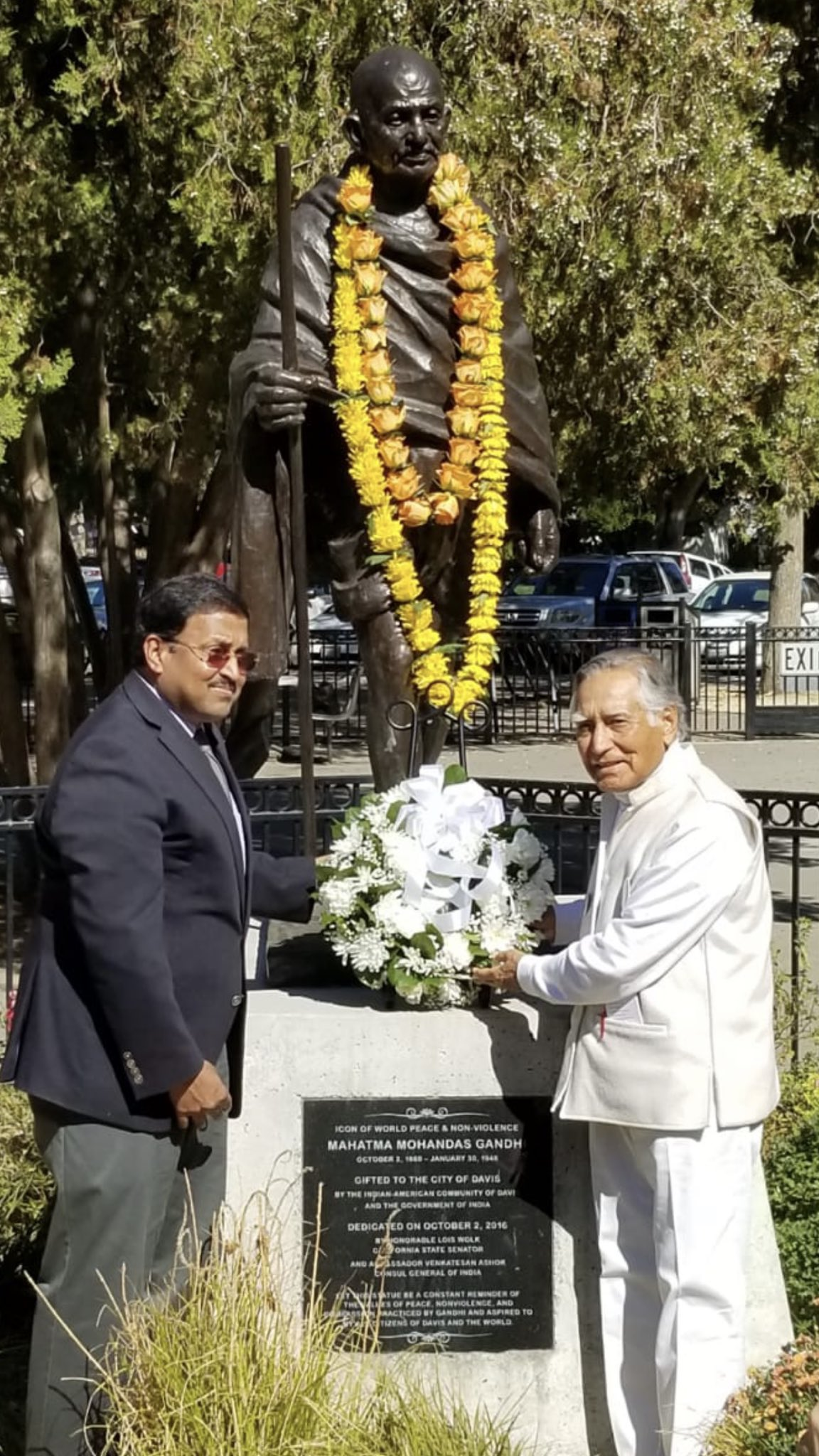 City of Davis pays tribute to Mahatma Gandhi with celebrations spearheaded by The Gandhi Statue for Peace Committee to commemorate