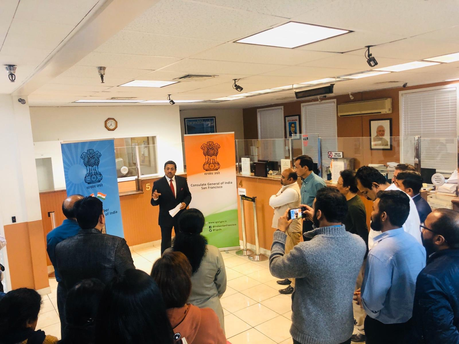 India in San Francisco, Consul General Amb. Sanjay Panda readout Fundamental Duties as enshrined in the Part-IVA of the Constitution, in continuation of celebrations to mark the 70th anniversary of Indian Constitution.