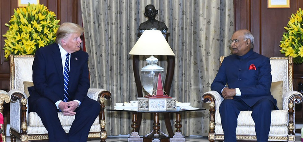 President meets Donald J. Trump, President of the United States of America at Rashtrapati Bhawan, New Delhi (February 25, 2020)