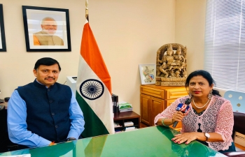 Consul General Dr. TV Nagendra Prasad shared vision and objectives of the Consulate in San Francisco with vernacular media channel TV9 Telugu on August 7, 2020 at his office. The updated regulations on Vandebharat Mission aired through this were found helpful