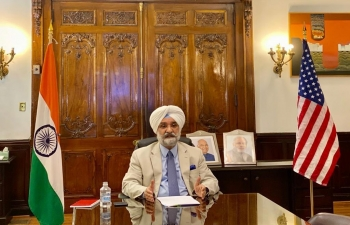 H.E Ambassador Sh. Taranjit Singh Sandhu had a productive session with vibrant Indian American Community on the west coast on strengthening Indo US relations on August 7, 2020. The community welcomed Ambassador and appreciated his initiative