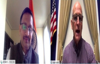 Consul General Dr. T.V. Nagendra Prasad interacted virtually with Representative Adam Smith on September 24, 2020. They had discussed on strengthening of India US cooperation across the sectors and the strong Indian community in Washington State.