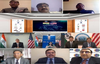A B2B interaction between Indian and US traders organized by the PHD Chamber of Commerce on 15th October 2020. The insightful discussion touched upon opportunities available to Indian and US companies in several emerging areas in the bilateral matrix. It was a very useful meeting followed by B-B meetings with the participation of all Consuls General in the US and Additional Secretary (Commerce), GOI.