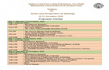 ICCR: 3-Day Webinar on Indology titled