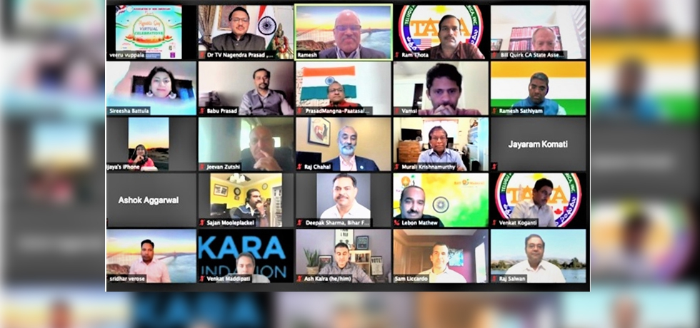 Virtual Celebration of the 72 nd Republic Day of India by Association of Indo-American (AIA).