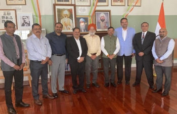 Consul General of India, Dr. T.V. Nagendra Prasad  Interacted with the Office bearers of Shahid Udam Singh Foundation North America (SUFNA) at the historic Gadar Memorial in San Francisco on June 16, 2021. During the interaction, recalled the inspiration and sacrifices of Gadarites in India's independence struggle. The office bearer shared very interesting incidents of around 1915 in California by Gadarites towards joining the struggle. The Consulate briefed them on the progress of renovation of Gadar Memorial Hall in the context of India@75.