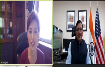 Consul General Dr. T.V. Nagendra Prasad had a very engaging discussion on growing India US relations with Hon'ble Congresswoman Young Kim. Covid situation and India-US partnership to fight the pandemic were also discussed. The significant contributions of the Indian community in the region were appreciated.
