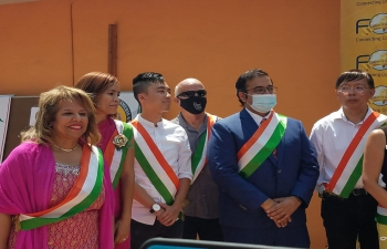 Consul General Dr. T.V. Nagendra Prasad attended the 75th Independence Day of India celebrations of Federation of Indian American (FIA) and Festival of Globe (FOG) at Fremont Hindu Temple. The occasion was graced by Dr. RK Japra, Fremont Mayor Lily Mei, Sunnyvale Mayor Larry Klein, Santa Clara Vice Mayor Raj Chahal and Fremont Councilmembers Raj Salwan and Teresa Cox, etc. The celebration included patriotic songs, classical dance performances by children. Fremont Mayor Lily Mei appreciated strong India-US relations and diverse Indian culture.