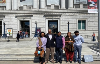 Consul General Dr. T.V. Nagendra Prasad visited the Asian Art Museum in San Francisco. Consul General thanked Dr. Jay Xu, Museum Director for an interesting discussion and sharing information and opportunities to collaborate with museums in India in the future during the 'Amrit Mahotsav'.