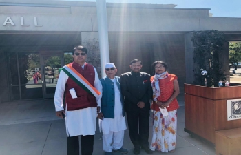 Consul General Dr. T.V. Nagendra Prasad had joined the flag raising ceremony at the Cupertino City Hall marking the 75th Independence Day of India under the aegis of the Cupertino – Bhubaneshwar Sister City Initiative (CBSCI) on celebrating #AmritMahotsav with elected members and Indian community. There was a performance of Indian Classical dance by 'Narthanalaya'. The Vie-Mayor and Council members congratulated India and Indians. They also hailed India-US relations and plurality in India.