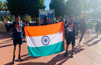 Heartily Congratulate two colleagues (Mr. Jha & Mr. Rao) of the Consulate who participated the SF Marathon Run to support the Climate Change Initiatives (City of San Francisco Urban Forrest programs), San Francisco Unified School District (SFUSD) and the local communities.