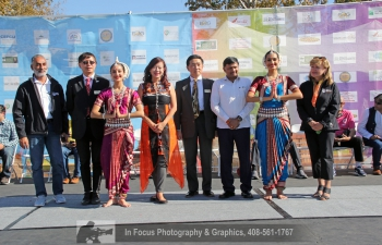 Consul General Dr. T.V. Nagendra Prasad was the Chief of Guest at the grand Diwali celebrations in Fremont organised by Federation of Indian American (FIA) and Festival of Globe (FOG) under the leadership of Dr. Romesh Japra. Present in the event Sunnyvale Mayor Larry Klein, Fremont Mayor Lily Mei, Fremont Councilmember Raj Salwan and actor Omi Vaidya. The event was attended by the India community in large numbers and states of Telangana, Odisha, Punjab, UP, Rajasthan, Gujarat, Kerala, Tamil Nadu, etc., presented their traditional dances. Telangana celebrated 'Bathukamma' in a traditional way. Consul General appreciated the enthusiasm and coordination by Dr. Japra. Consul General Dr. T.V. Nagendra Prasad was presented a plaque for support of the Consulate General of India, San Francisco. Consul General also appreciated Mr. Mahesh Pakala for his encouragement and anchorship.